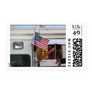 Patriotic Fire Truck Stamp