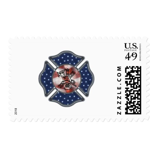 Patriotic Firefighter Maltese Postage