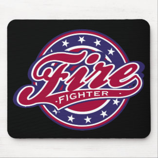 Patriotic Firefighter Mouse Pad