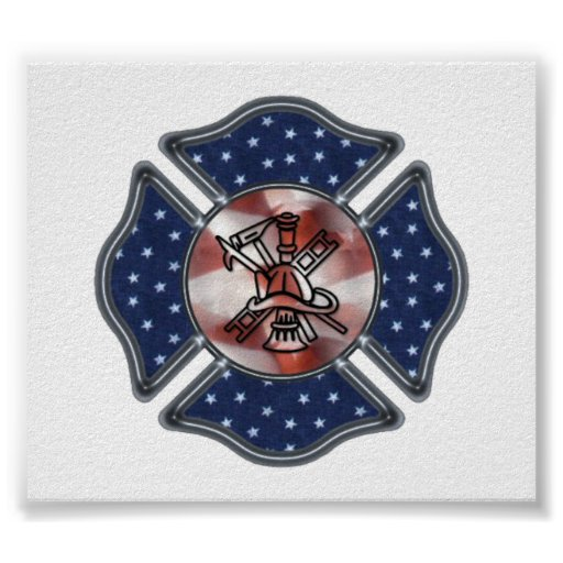 Patriotic Firefighter Posters