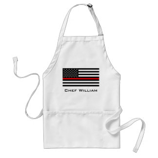 Patriotic Firefighter Style American Flag Adult Apron
