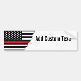 Patriotic Firefighter Style American Flag Bumper Sticker