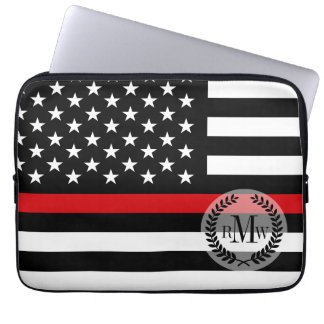 Patriotic Firefighter Style American Flag Computer Sleeve