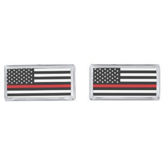 Patriotic Firefighter Style American Flag Cufflinks