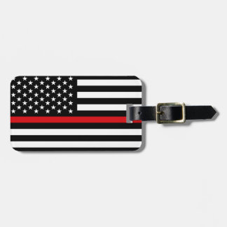 Patriotic Firefighter Style American Flag Luggage Tag