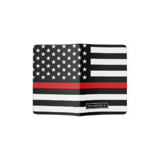 Patriotic Firefighter Style American Flag Passport Holder