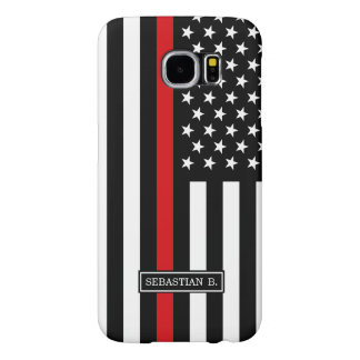 Patriotic Firefighter Style American Flag Samsung Galaxy S6 Case
