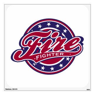 Patriotic Firefighter Wall Sticker