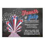 Patriotic Fireworks 4th of July BBQ Party Invite Custom Invitations