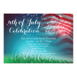 "Patriotic Fireworks 4th of July Party Invitation 5"" X 7"" Invitation Card"