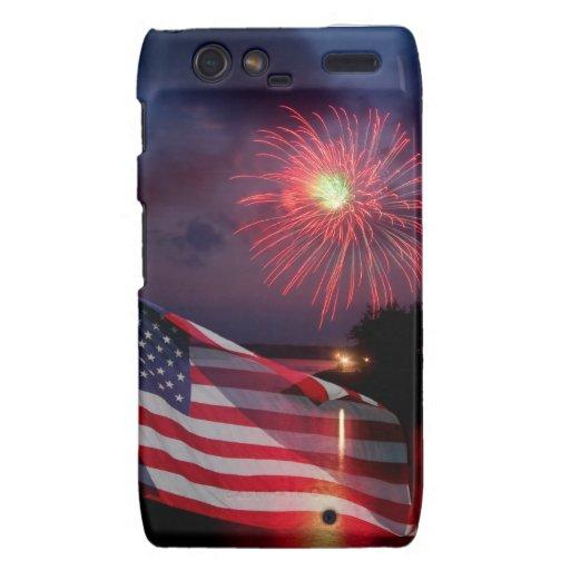 Patriotic Fireworks Droid Razr Droid RAZR Case