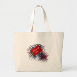 Patriotic Fireworks for Memorial Day Canvas Bags
