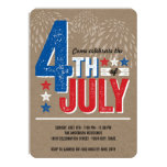 Patriotic Fireworks Fourth of July Party Invite Invitations