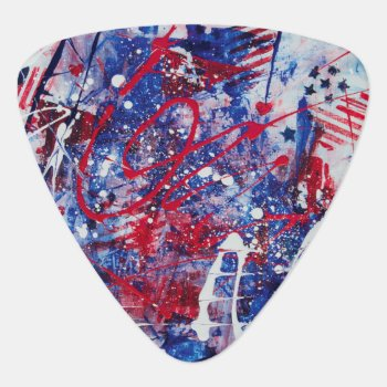Patriotic Fireworks Guitar Pick by LiveWaterStudios at Zazzle