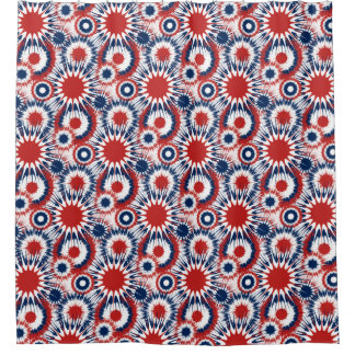 Patriotic Fireworks in Red white and Blue Shower CurtainRed White And Blue Shower Curtains   Zazzle. Red And Blue Shower Curtain. Home Design Ideas