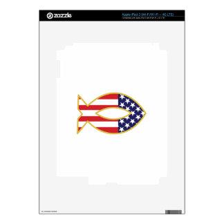 Patriotic Fish Decals For iPad 3
