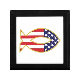 Patriotic Fish Keepsake Box