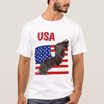 Patriotic Flag and Eagle T-shirt