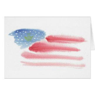 Patriotic Flag & Angel Christmas Card - Customize