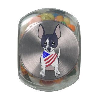 Patriotic Flag Bandana Chihuahua 5 Jelly Belly Candy Jars