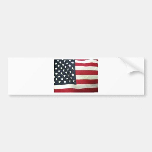 Patriotic Flag Car Bumper Sticker