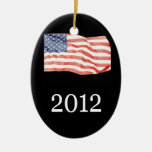 patriotic flag christmas ornament