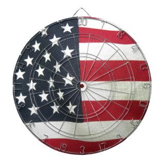 Patriotic Flag Dartboard With Darts