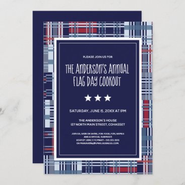 Patriotic, Flag Day, Summer, Cookout Invite Madras