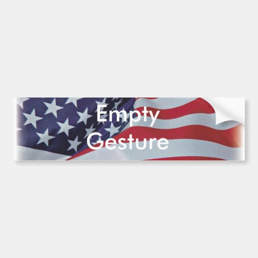 Patriotic_Flag, gesto vacío Pegatina De Parachoque