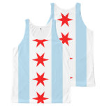 Patriotic Flag of Chicago All-Over-Print Tank Top