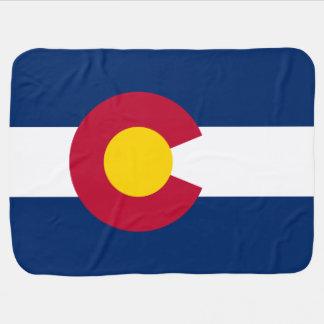Patriotic Flag of Colorado Swaddle Blanket