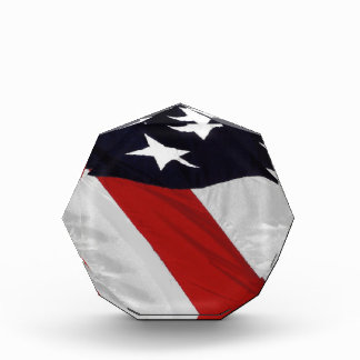 Patriotic Flag Paperweight Acrylic Award
