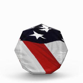 Patriotic Flag Paperweight Acrylic Award
