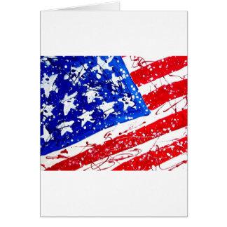 Patriotic Flag Print Greeting Card