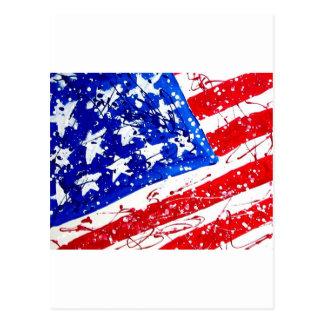 Patriotic Flag Print Postcard