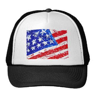 Patriotic Flag Print Trucker Hat