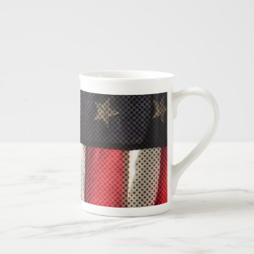 USA Themed Patriotic Flag Tea Cup
