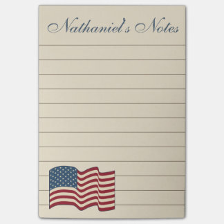 Patriotic Flag To Do List Post It Notes
