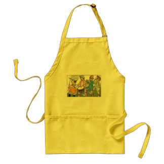 Patriotic Flags Independence Day Parade Adult Apron
