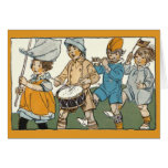 Patriotic Flags Independence Day Parade Greeting Card