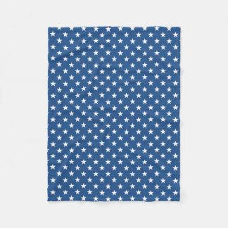 Patriotic fleece blanket with American flag stars