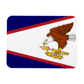 Patriotic flexible magnet with American Samoa flag