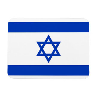Patriotic flexible magnet with flag of Israel