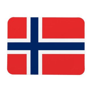 Patriotic flexible magnet with flag of Norway