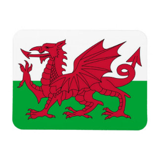 Patriotic flexible magnet with flag of Wales