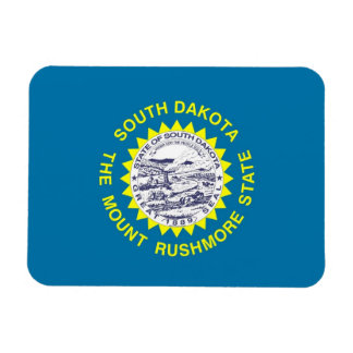Patriotic flexible magnet with South Dakota flag