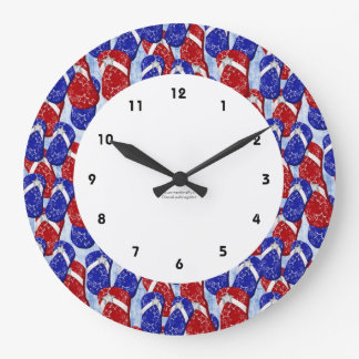 Patriotic FlipFlop Wall Clock