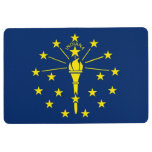 Patriotic Floor Mat with Flag of Indiana, USA