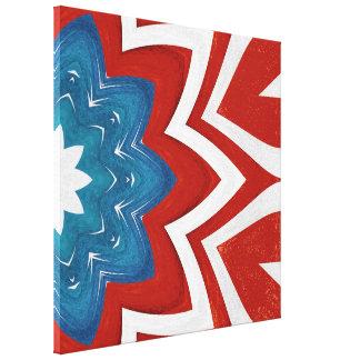 patriotic floral kaleidoscope design canvas print