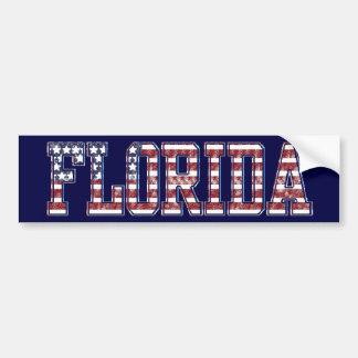 PATRIOTIC FLORIDA BUMPER STICKER